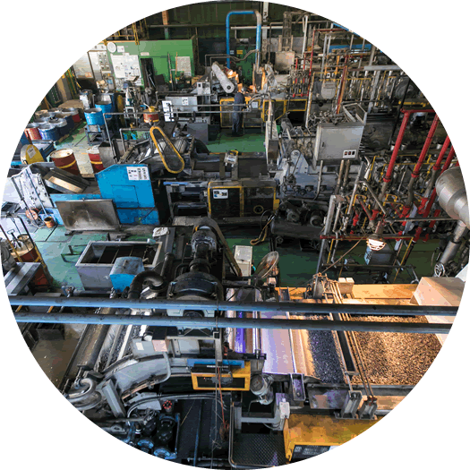 浸炭熱処理の処理設備